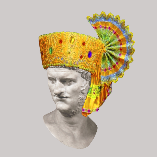 , 'Roman Emperor Nero/Traditional Thai Hat,' 2018, JAUS