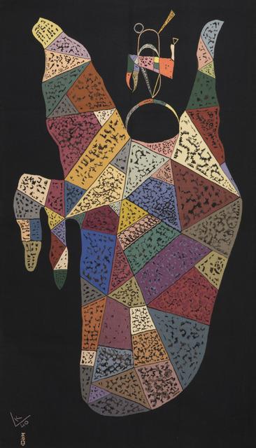 Wassily Kandinsky, 'Unique modern tapestry designed by Wassily Kandinsky - Sur Fond Noir', ca. 1940, Boccara Gallery