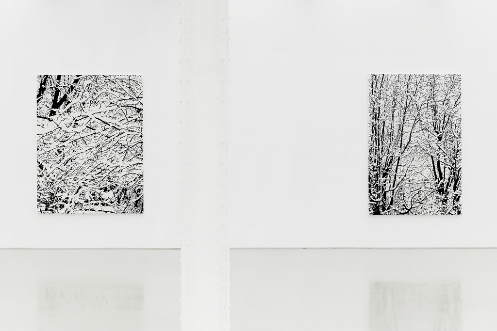 """View of the exhibition Farhad Moshiri """"Snow Forest"""" at Perrotin, New York, 2017. Photo: Guillaume Ziccarelli Courtesy Perrotin"""