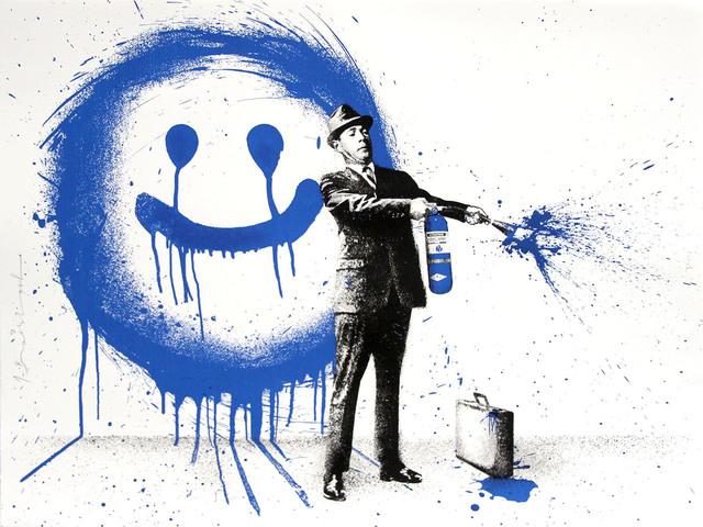 , 'Spray Happiness Blue,' 2018, Aurifer AG