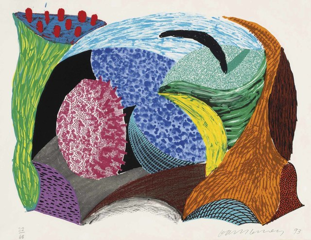 David Hockney, 'Going Out, from: Some New Prints', 1993, Christie's