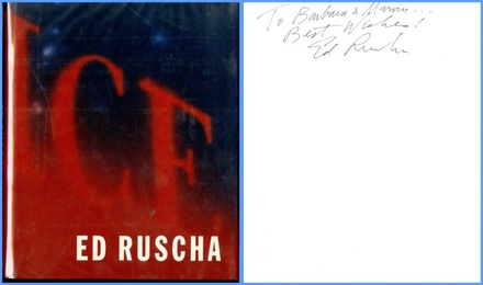 Ed Ruscha (Hand Signed and inscribed to former owner of 20th Century Fox)