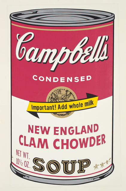 Andy Warhol, 'Campbell's Soup II, New England Clam Chowder F&S II.57', 1969, Print, Screenprint in colors on wove paper, Fine Art Mia
