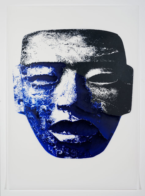 , 'Aztec Mask (Ultramarine),' 2014, Erin Cluley Gallery