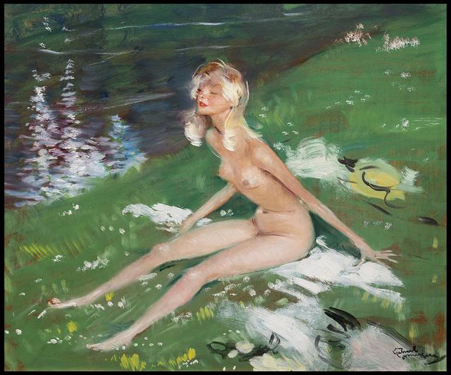 , 'Le Bain de Soleil,' 20th Century, Galerie de Souzy