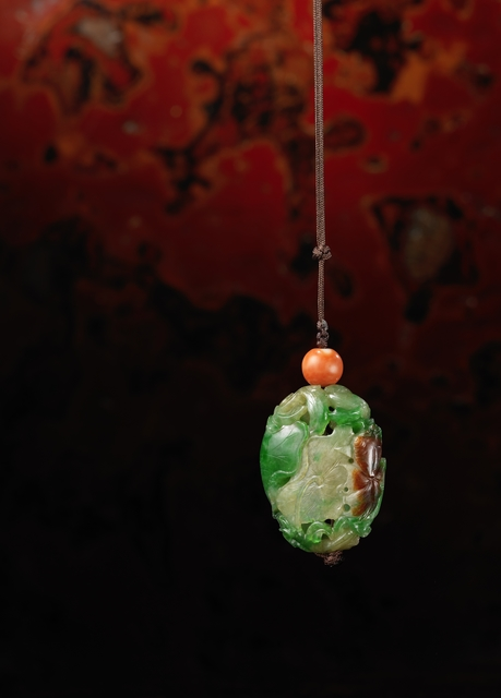, 'An imperial three-colour jadeite pomander,' China: Qianlong (1736-95), Rasti Chinese Art