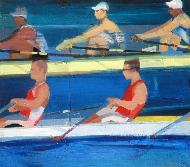 , 'Rowing #3,' 2018, Sue Greenwood Fine Art