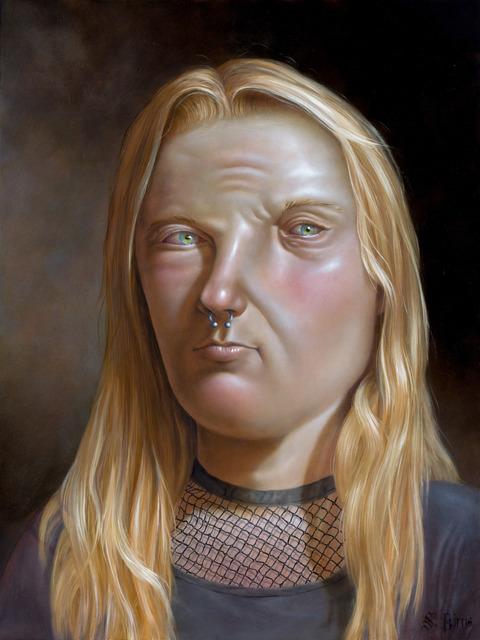 Sara Birns, 'Reflections of Reflections of Reflections of Reflections', 2019, Painting, Oil on panel, Richard Heller Gallery