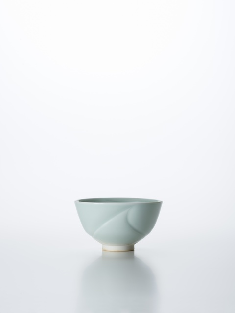 , 'Sculpted Celadon Porcelain Tea Bowl with Wave Pattern,' 2018, Onishi Gallery