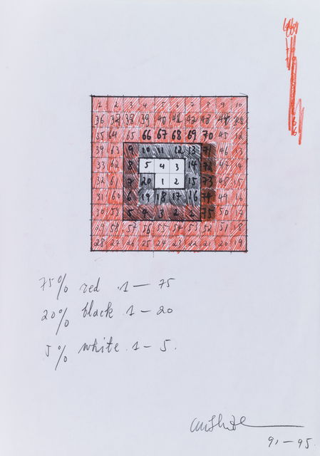 , '75% Red, 20% Black, 5% White《75%红20%黑5%白》,' 1991-1995, Long March Space