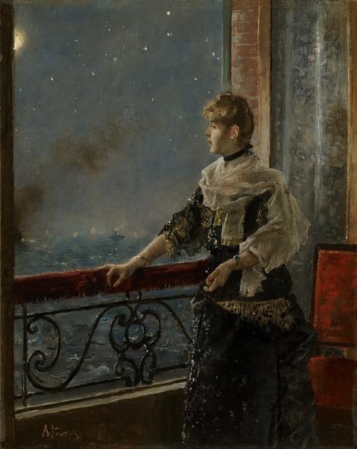 Alfred Stevens, 'Moonlight (Au clair de la lune)', ca. 1885, Clark Art Institute