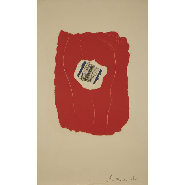 Robert Motherwell, 'Tricolor', 1973, Print, Color offset lithograph on Arches Cover, Freeman's