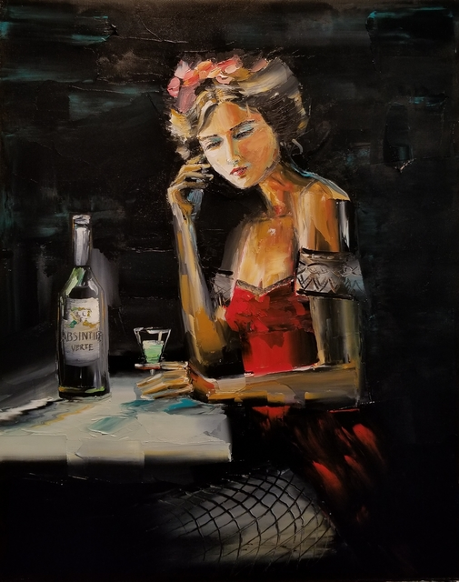 Chuck Joseph, 'The Green Fairy', 2020, Painting, Oil on Canvas, Animazing Gallery