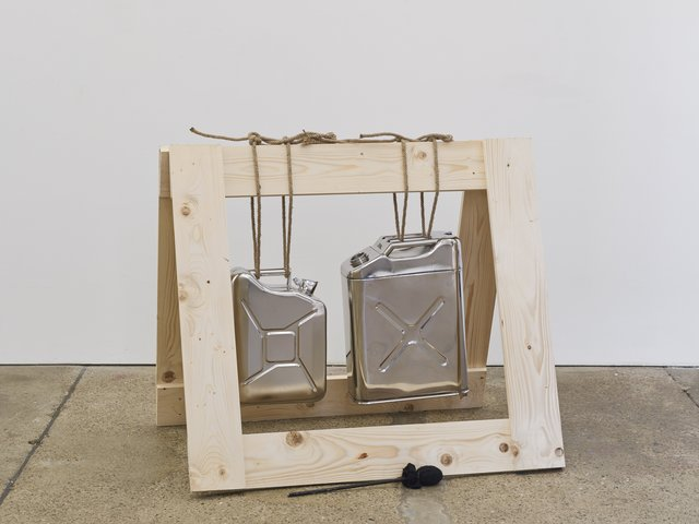 , 'Drums, stainless steel jerry cans, 10l/ 20l,' 2014, Supportico Lopez