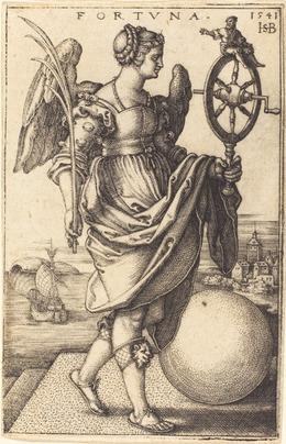 Sebald Beham, 'Fortune', 1541, Print, Engraving, National Gallery of Art, Washington, D.C.
