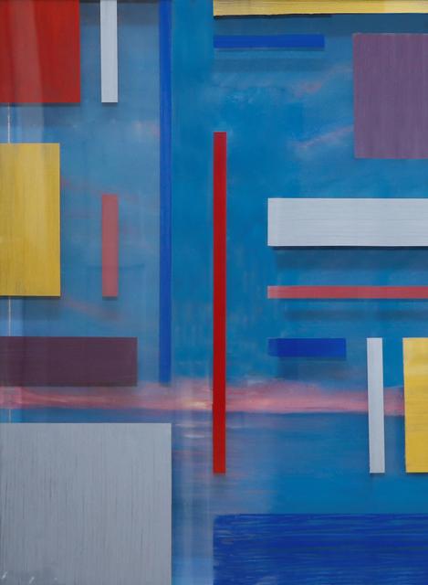 Arica Hilton, 'REFLETS DANS L'EAU 1 - MAKTUB', 2020, Mixed Media, Dual Panel Acrylic on Bamboo Paper with acrylic on acrylic, Hilton Asmus