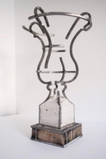 Juan Garaizabal, 'Vase Tuileries VIII', 2015, Sculpture, White concrete and steel, Bogena Galerie