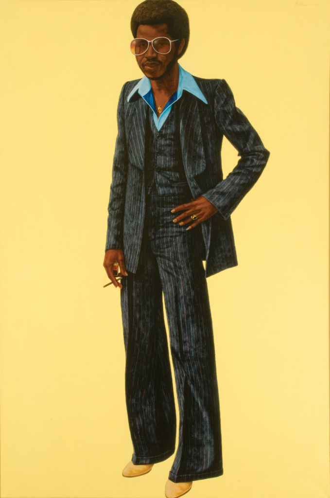 Barkley L. Hendricks, Noir, 1978, Oil and acrylic on canvas, Courtesy of Rubell Family Collection, Miami
