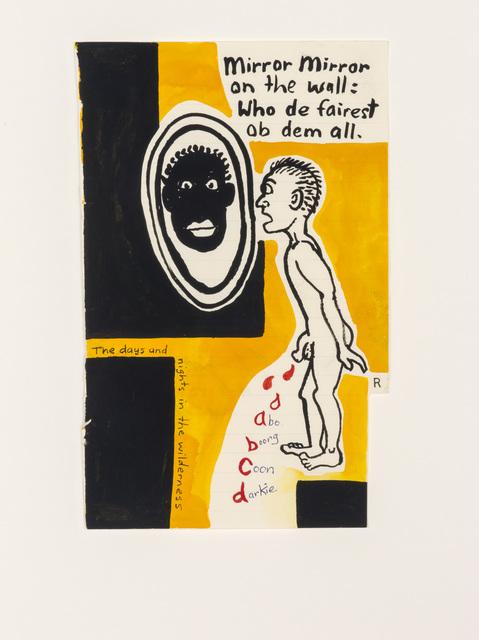 Gordon Bennett, 'Notepad Drawings: Mirror Mirror on the Wall', 1995, Contemporary Art Gallery