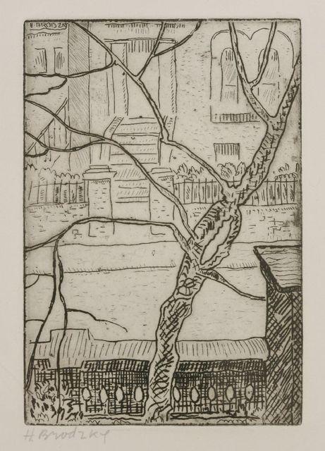 Horace Ascher Brodzky, 'Street With Trees', Sworders