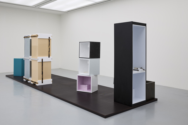 , '(3 part fridge) (x-small fridges stacked),' 2014, kestnergesellschaft