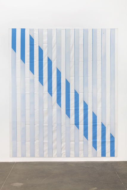 , 'Paint On/Under Plexiglas on Serigraphy, Diagonal No. 1 Blue, Situated Work,' 2013, Bortolami