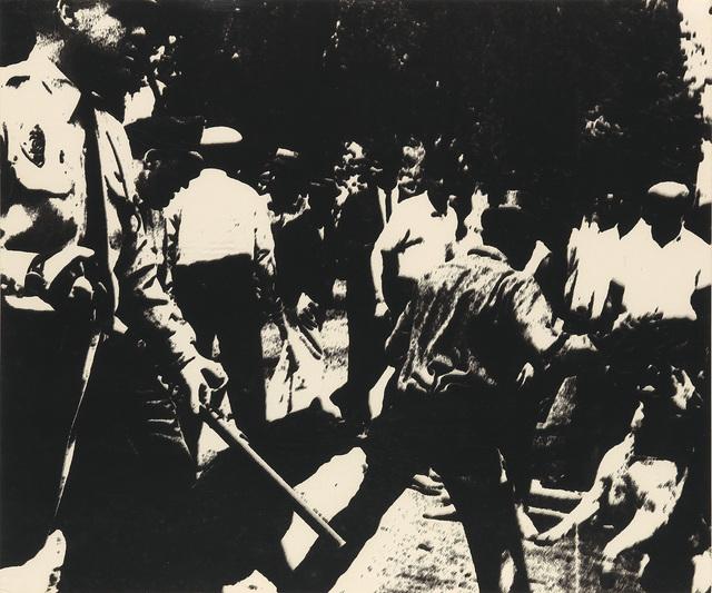 Andy Warhol, 'Birmingham Race Riots', 1964, Swann Auction Galleries