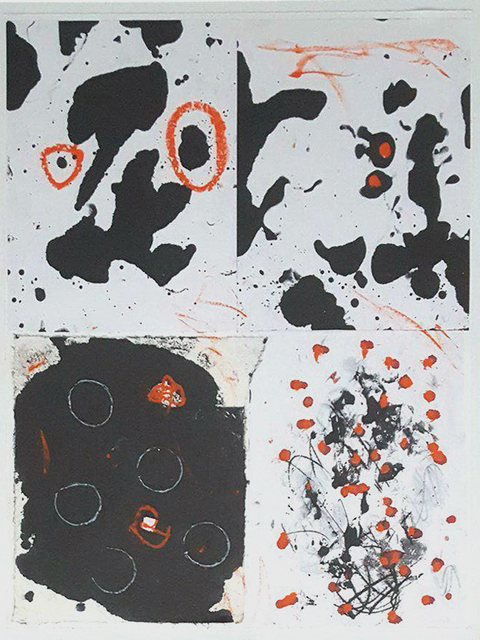 , 'Orange Dots,' , Paraphé