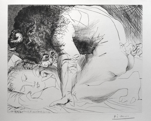 , 'Minotaure caressant une dormeuse,' 1939, R. S. Johnson Fine Art