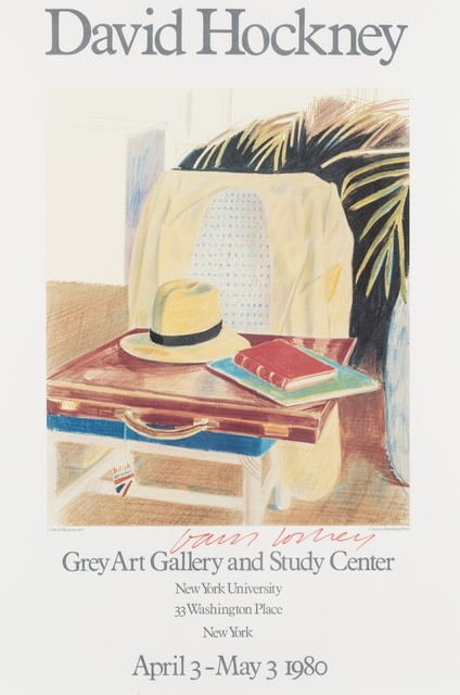 David Hockney, 'Poster for Grey Art Gallery and Study Center', 1980, Forum Auctions