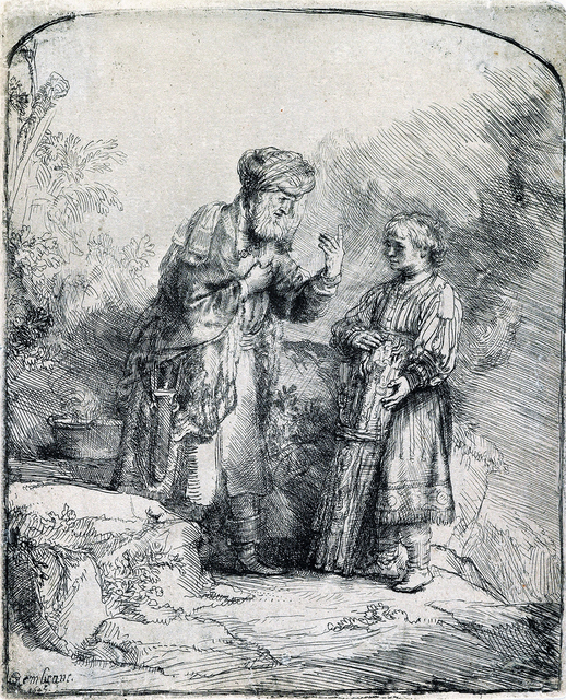 , 'Abraham and Isaac (1st State),' 1645, R. S. Johnson Fine Art