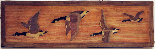 , 'Flying Geese Bench Mat,' ca. 1930, Edward Thorp Gallery