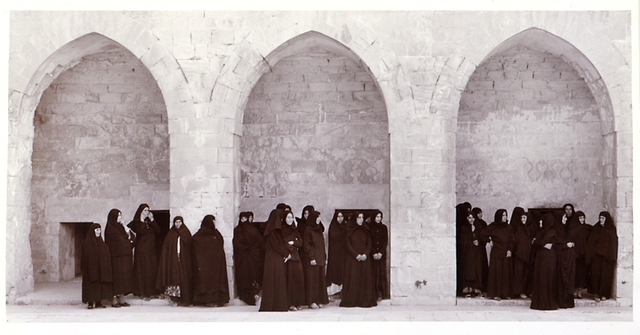 , 'Solilioqy Series (Veiled women in three arches),' 1999, Goodman Gallery