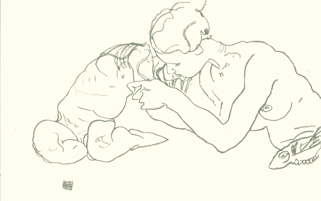 , 'Zwei sich küssende Mädchen,' 1990, Wallector
