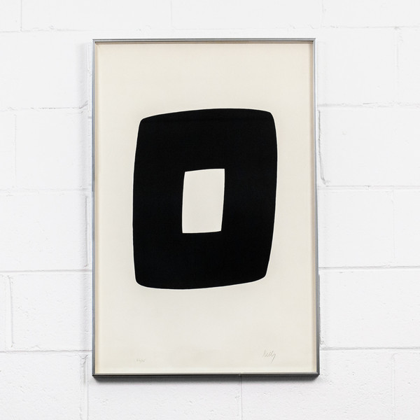 "Ellsworth Kelly ""BLACK WITH WHITE A.9"", 1964"