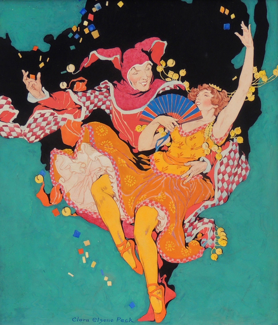 Clara Peck, 'Frolicking Harlequin and Ballerina, Theatre Magazine Cover', 1921, The Illustrated Gallery