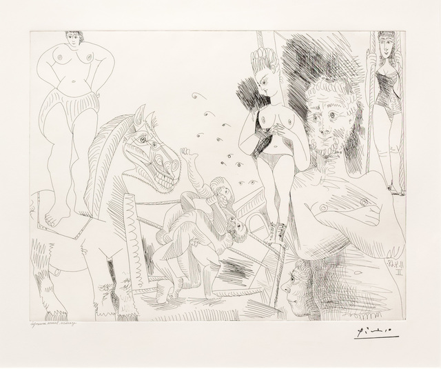 Pablo Picasso, 'Cirque et Catch, from the 347 Series', 1968, Leslie Sacks Gallery