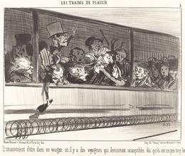 Honoré Daumier, 'L'Inconvénient d'être dans un wagon...', 1852, National Gallery of Art, Washington, D.C.