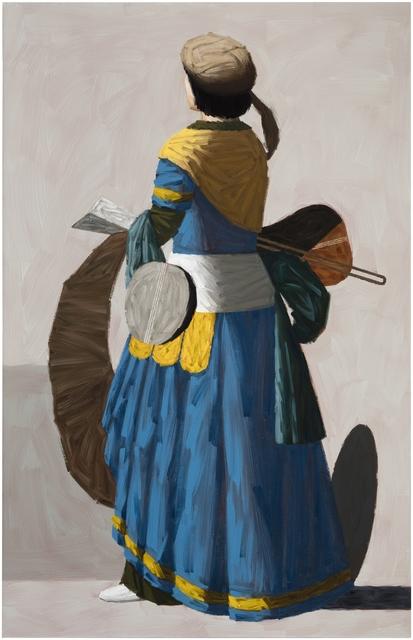 , 'Blue Figure,' 2018, Galleria Heino