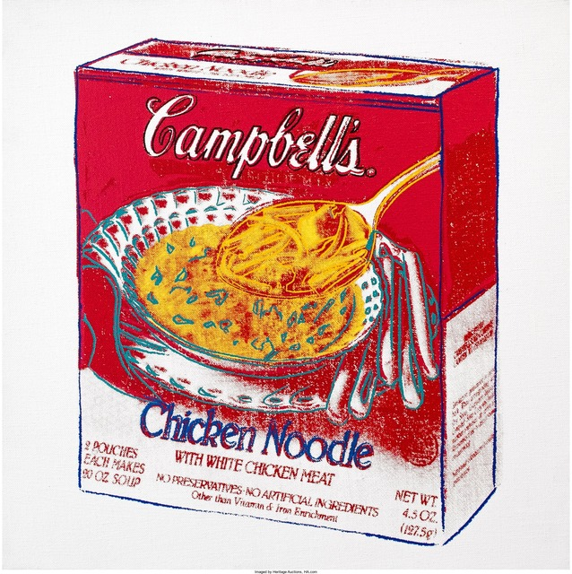 Andy Warhol, 'Campbell's Soup Box (Chicken Noodle)', 1986, Print, Synthetic polymer paint and silkscreen inks on canvas, Heritage Auctions