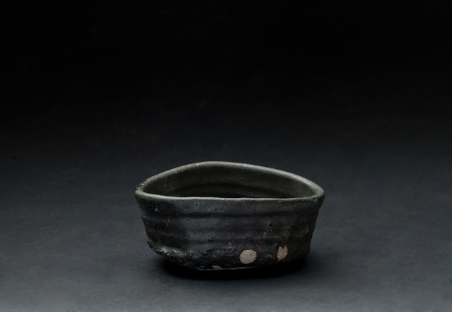 Shiro Tsujimura, 'Kuro-Oribe Chawan', 2007, Sculpture, Mixed iron, charcoal (mokutan), Chooseki, etc, and firing with 1300C. And then proceed by rapid cooling, make it become black color, Cavin-Morris Gallery