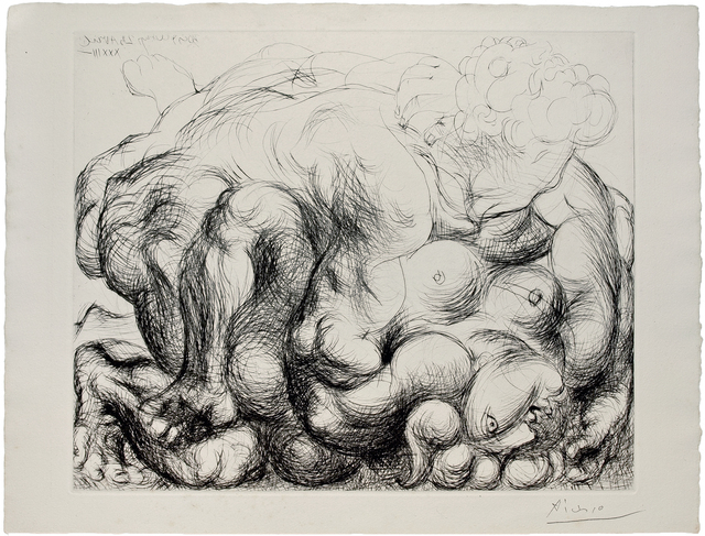 Pablo Picasso, 'L'Etreinte III', 1933, Print, Etching, Galerie Raphael
