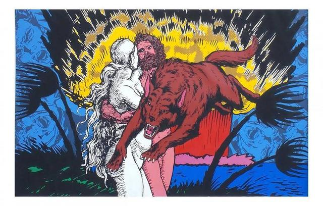 Jerry Kearns, 'Lost in Paradise, Monumental Huge Pop Art Painting', 20th Century, Lions Gallery