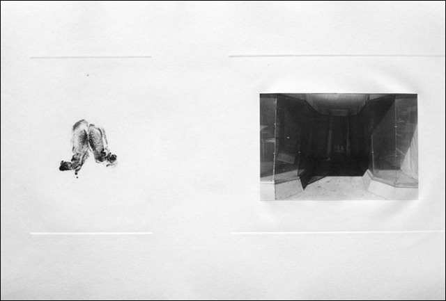 Lee Friedlander, 'Untitled (empty storefront)', 1966-1969, Photography, Gelatin silver print & etching, PDNB Gallery