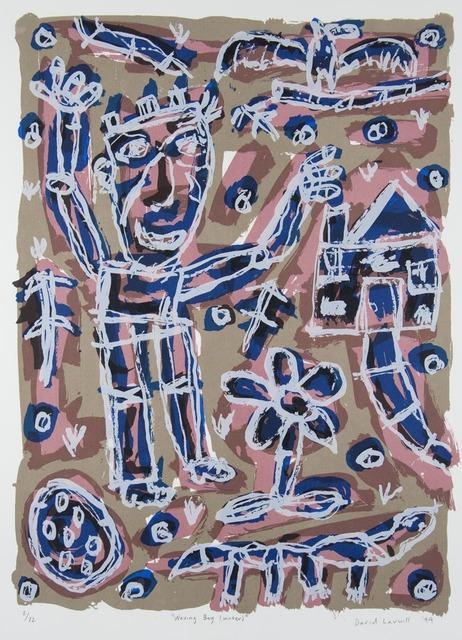 David Larwill, 'Waving Boy (Winter)', 1999, Print, Screenprint on paper., Angela Tandori Fine Art