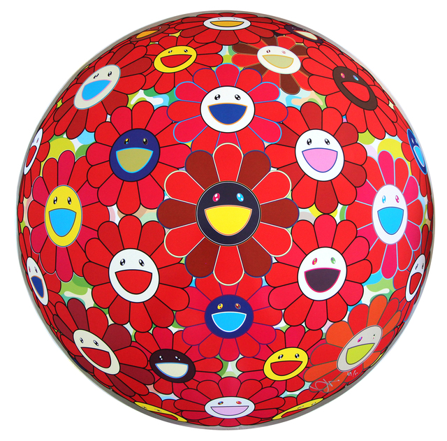 Takashi Murakami, 'Red Flowerball 3D', EHC Fine Art Gallery Auction