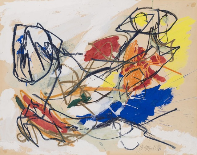 Karel Appel, 'Rencontre', 1954, Drawing, Collage or other Work on Paper, Mixed media on paper, Jaski