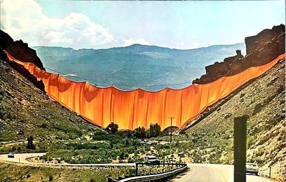 The Valley Curtain, Rifle, Colorado (SIGNED) from the Collection of Jacob and Aviva Bal Teshuva (Hand Signed)