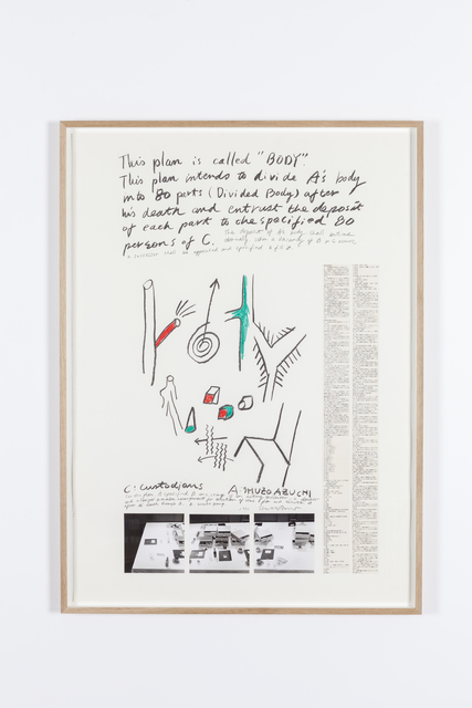 , 'Body project (agreement) and drawings,' 1986, Tatjana Pieters