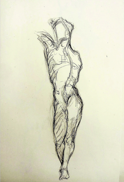 Alfred R Kelman, 'Male Torso - Class Exercise ', N/A, Kate Oh Gallery